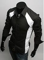 Модная рубашка мужская M, Черный