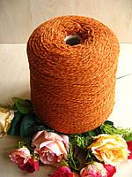 Итальянская бобинная пряжа от Filatura Power art Primula 80% Меринос, 20% РА  750м /100 гр. Кирпичный