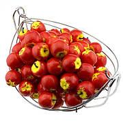 Штучний фрукт яблуко.Муляж червоного яблука.