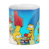 Кружка с принтом Симпсоны