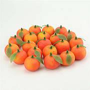 Штучні мандаринки.Мандарини декоративні.