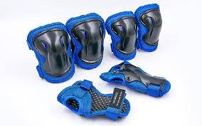 Защита детская наколенники, налокотники, перчатки HYPRO сине-черная