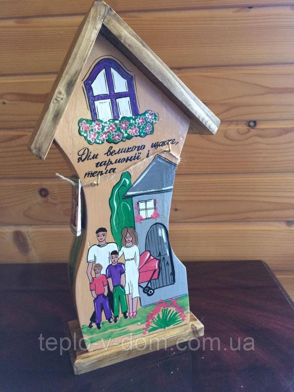 Копилка-ключница деревянная