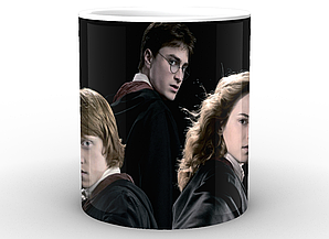 Кружка GeekLand Harry Potter Гарри Поттер на черном фоне HP.02.011