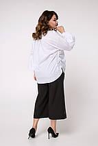 Женская свободная рубашка больших размеров с объемными манжетами (Ксения lzn), фото 3
