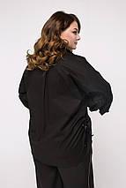 Женская свободная рубашка больших размеров с объемными манжетами (Ксения lzn), фото 2