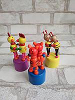 Дерев'яна іграшка «танцююча парочка» Висота 9-10 см 45/55 грн (ціна за 1 шт +10 грн), фото 1