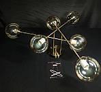 Стельова люстра молекула на 6 ламп бронза
