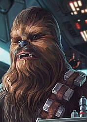 Картина GeekLand Star Wars Звёздные Чубакка фан арт 40х60см SW.09.019