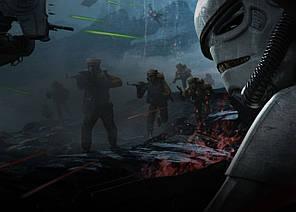 Картина GeekLand Star Wars Звёздные войны войны клонов 60х40см SW.09.061