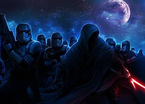 Картина GeekLand Star Wars Звёздные войны Ночной штурм 60х40см SW.09.071