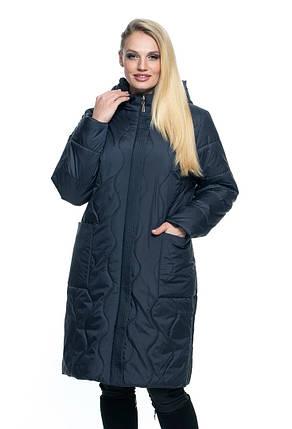 Женское пальто полу приталенного силуэта батал 54 -70 размер, фото 2