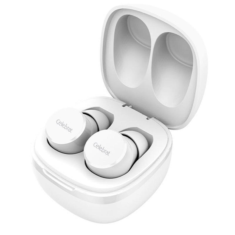 Беспроводные Bluetooth наушники Celebrat W1 White