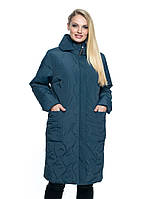 Удобное стёганное женское пальто батал 54 -70 размер