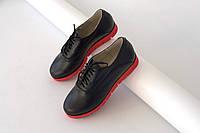 Черные стильные туфли женские Soldi