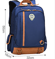 Оригинальный школьный рюкзак с карманом органайзером ранец синий lдля мальчика большой 467C