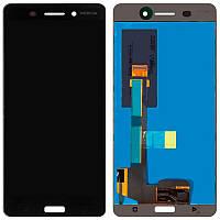 Дисплейный модуль LCD Nokia 6 Dual Sim + touch Black Original (OEM)