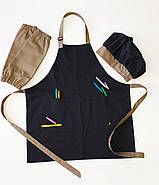 Комплект дитячий Latte Junior 7-12років | Фартух + Ковпак + Нарукавники, фото 3