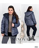 Куртка №8-204-деним-синий