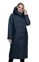 Женское длинное демисезонное пальто цвета марсал  46 по 56 размер, фото 3