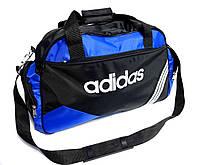 Спортивная сумка Adidas ( Адидас ) . Черная с голубым . 4 отделения реплика