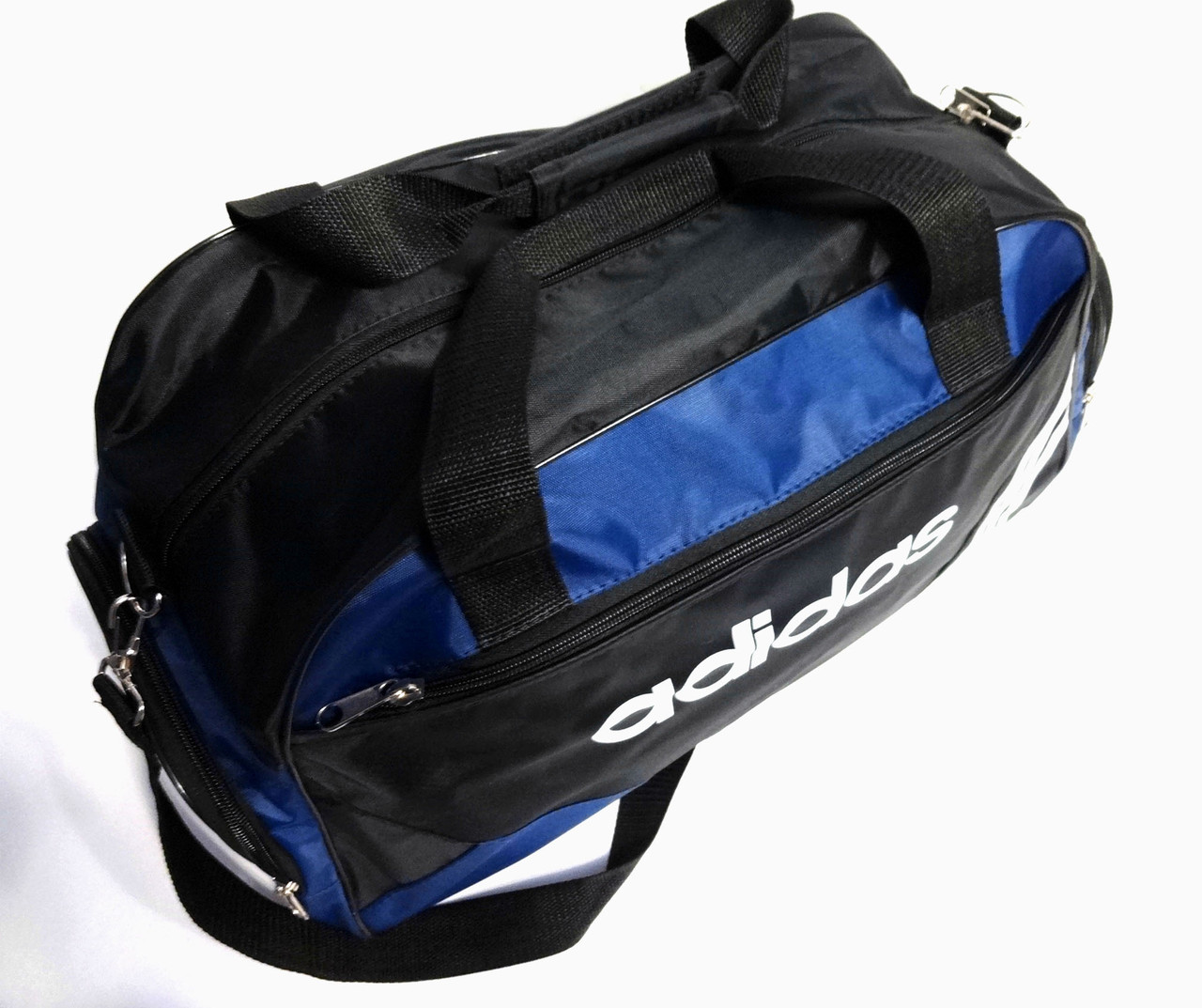 677b0c8198e5 Спортивная сумка Adidas (Адидас) черная с темно синим. 4 отделения реплика  ...