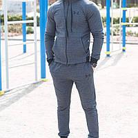 Спортивный мужской  костюм на весну в стиле Under Armour серый, фото 1