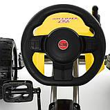 Веломобиль Bambi М 4118-6. Нагрузка до 50 кг. Ручной тормоз. Рама: металл. EVA колеса. Вес:16.5 кг, фото 6