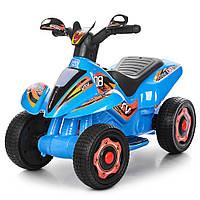 Детский толокар-мотоцикл Bambi. Мотор 18W. Аккум6V7AH. Красный. Звуковые и световые эффекты M 3560 E-4