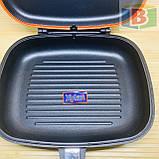 Сковорода двойная для гриля и жарки 30 см А-Плюс 1700, фото 2