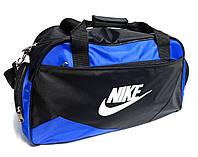 Спортивная сумка Nike (Найк) черная с голубым . 4 отделения реплика, фото 1