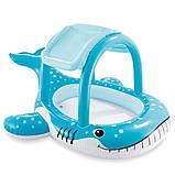 Надувной детский бассейн. Размер 211х109х185. Надувной кит, фото 2