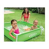 Детский бассейн каркасный. Размер 122х122х30. Объем воды 340 л. Intex 57173, фото 2