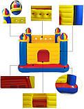 Надувной игровой центр-батут. Размер: 175х175х135 см. Вместимость: 1-3 ребенка. Intex 48259, фото 4