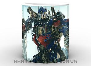 Кружка GeekLand Трансформеры Transformers Оптимус на фоне домов TF.002.07