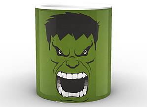 Кружка Geek Land белая Халк Hulk зеленый фон  HU.02.001