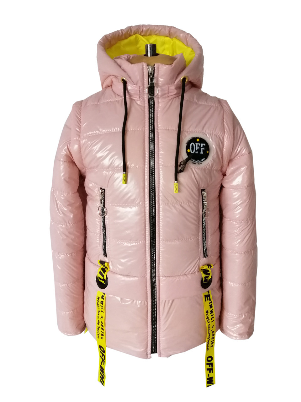 Куртка для девочки на весну интернет магазин  34-44 пудра