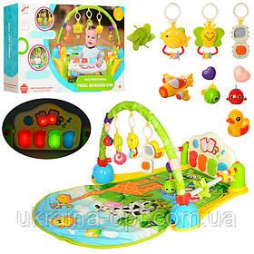 Коврик для младенцев Bambi. Звуковые и световые эффекты. Пианино. Подвесные игрушки. 838-53