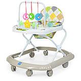 Детские ходунки с подвесными игрушками. Мелодии. Материал: пластик. 8 колес. Деткам от 8-ми месяцев. M 0591-S, фото 2