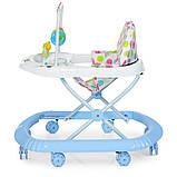 Детские ходунки с подвесными игрушками. Мелодии. Материал: пластик. 8 колес. Деткам от 8-ми месяцев. M 0591-S, фото 3