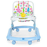 Детские ходунки с подвесными игрушками. Мелодии. Материал: пластик. 8 колес. Деткам от 8-ми месяцев. M 0591-S, фото 4