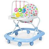 Детские ходунки с подвесными игрушками. Мелодии. Материал: пластик. 8 колес. Деткам от 8-ми месяцев. M 0591-S, фото 5