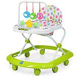 Детские ходунки с подвесными игрушками. Мелодии. Материал: пластик. 8 колес. Деткам от 8-ми месяцев. M 0591-S, фото 6