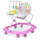 Детские ходунки с подвесными игрушками. Мелодии. Материал: пластик. 8 колес. Деткам от 8-ми месяцев. M 0591-S, фото 7