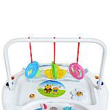 Детские ходунки с подвесными игрушками. Мелодии. Материал: пластик. 8 колес. Деткам от 8-ми месяцев. M 0591-S, фото 8