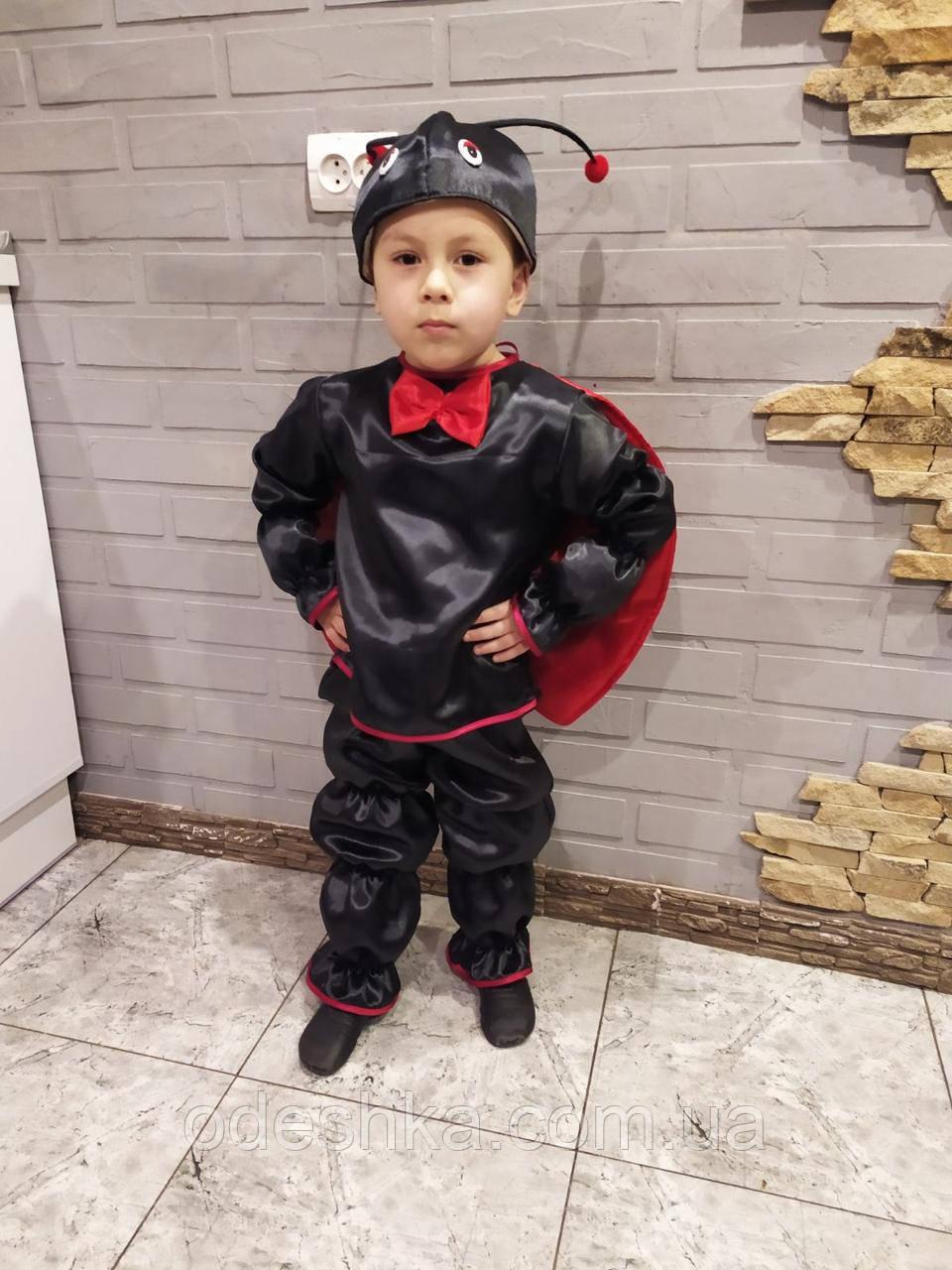 Карнавальный костюм божьей коровки мальчика
