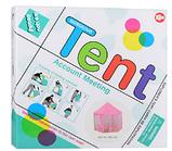 Детская игровая палатка. Три цвета. ДхШхВ-140-140-135 см. Материал: металл+текстиль.  M 6113, фото 2