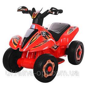 Детский толокар-мотоцикл Bambi. Мотор 18W. Аккум6V7AH. Красный. Звуковые и световые эффекты M 3560 E-3