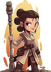 Картина GeekLand Star Wars Звёздные воины Рей 40х60см SW.09.016