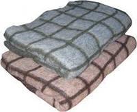 """Одеяло полушерстяное """"Клетка"""", полуторное, расцветка в ассортименте"""